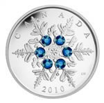 $20 2010 Silver Coin - Crystal Snowflake - Blue