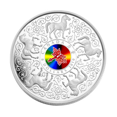 $8 2010 Sterling Silver Coin - Maple of Strength