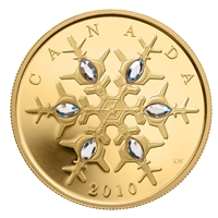 2010 $300 Crystal Snowflake - 14kt. Gold Coin