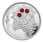 $20 2010 Fine Silver Coin - Holiday Pine Cones