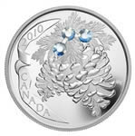 $20 2010 Fine Silver Coin - Holiday Pine Cones - Moonlight