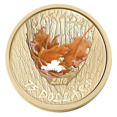 $75 2010 14-Karat Gold Maple Leaf Coin - Winter