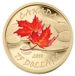 $75 2010 14-Karat Gold Maple Leaf Coin - Fall