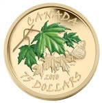 $75 2010 14-Karat Gold Maple Leaf Coin - Summer