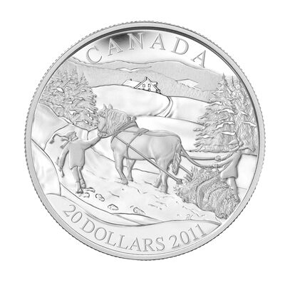 $20 2011 Sterling Silver - Winter Scene