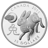 2011 $15 Fine Silver Coin - Year of the Rabbit Classic