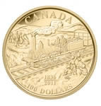 $100 2011 Gold Coin - 175th Anniversary of Canada's First Rail Road