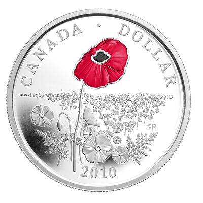 2010 $1 Poppy - Limited Edition Silver Dollar Proof