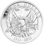 $1 2011 Brilliant Silver Dollar - 100th Anniversary of Parks Canada