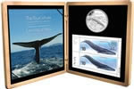 $10 2010 Sterling Silver Coin & Stamps Set - Blue Whale