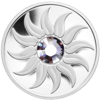 $3 2011 Fine Silver Coin - Birthstone Collection - June