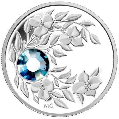 $3 2012 Fine Silver Birthstone Collection March