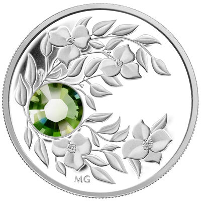 $3 2012 Fine Silver Birthstone Collection August