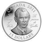 $15 2011 Ultra High Relief Silver Coin -H.R.H. The Prince of Wales Prince Charles