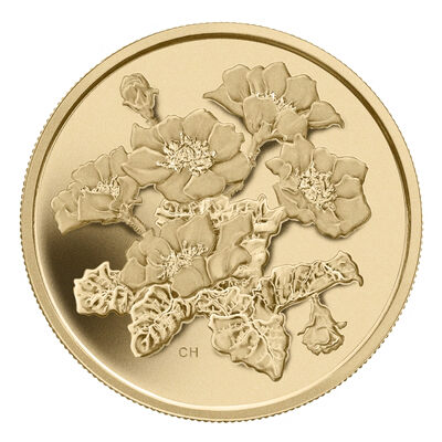 $350 Fine Gold Coin - Mountain Avens