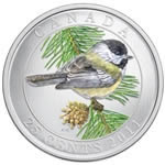 25c 2011 Colourised Coin - Black-capped Chickadee