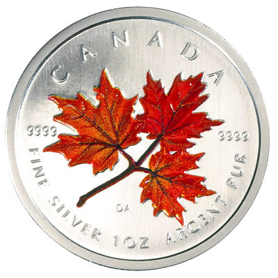 $5 2001 Coloured Maple Leaf - Autumn