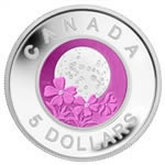 $5 2012 Sterling Silver and Niobium Coin - Full Pink Moon