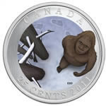 25c 2011 Coloured Coins - Canadian Mythical Creatures - Sasquatch