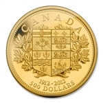 $500 2012 Gold Coin - 100th Anniversary of Canada's First Gold Coins