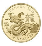 $150 2012 Gold Coin - Year of the Dragon