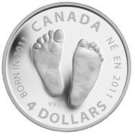 $4 2011 1/2 oz Fine Silver Commemorative Coin - Welcome to the World