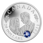 $20 2011 Fine Silver Coin - H.R.H. Prince William of Wales and Miss Catherine Middleton
