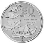 2011 $20 for $20 Maple Leaf Commemorative - Pure Silver Coin