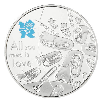 £5 2011 Silver Coin - London 2012 Great British Icons - Music