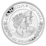 $20 2012 Fine Silver - Queen's Diamond Jubilee (Double Effigy)