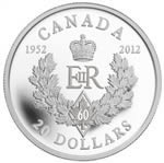 $20 2012 Fine Silver - Queen's Diamond Jubilee Royal Cypher