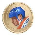 25c 2011 Coloured Coin - Wayne Gretzky