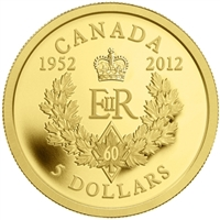 $5 2012 Gold - Queen's Diamond Jubilee Royal Cypher