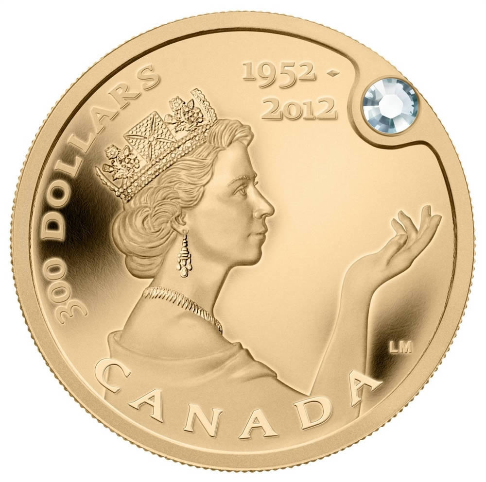 300 2012 Pure Gold Coin Queen S Diamond Jubilee Royal