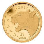 25c 2011 0.5g Pure Gold Coin - Cougar