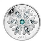 $20 2011 Fine Silver Coin - Emerald Crystal Snowflake
