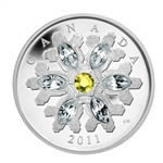 $20 2011 Fine Silver Coin - Topaz Crystal Snowflake