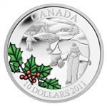 $10 2011 Fine Silver Coin - Little Skaters