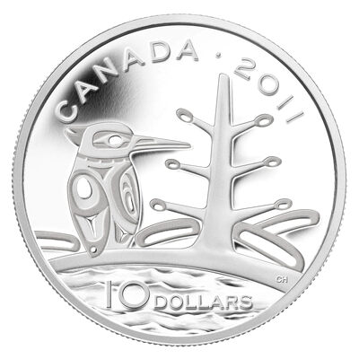 $10 2011 Fine Silver Coin - The Canadian Boreal Forest