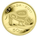 50c 2011 Fine Gold Coin - Wood Bison