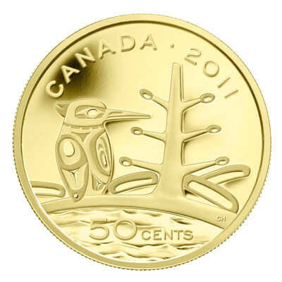 50c 2011 Fine Gold Coin - The Canadian Boreal Forest