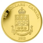 $300 2012 Gold Coin - Quebec Coat of Arms