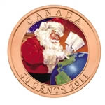 50c 2011 Lenticular Coin - Gifts From Santa