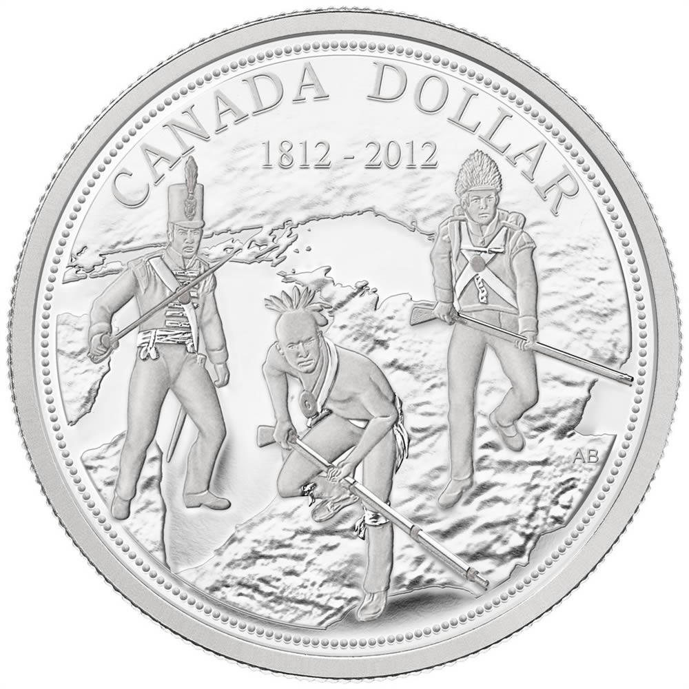 Details about  /2012 Canada Silver War of 1812 3//4 oz .9999 BU Fresh From Mint Tube
