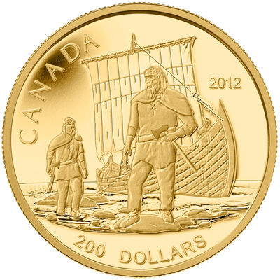 $200 2012 Pure Gold Coin - The Vikings