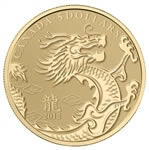 $5 2012 Pure Gold Coin - Year of the Dragon