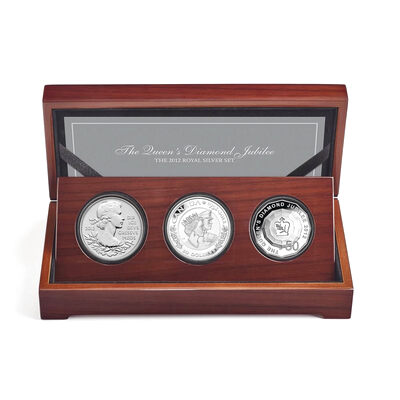 2012 Queen's Diamond Jubilee Royal Silver Set