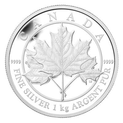 $250 2012 Fine Silver Kilo Coin - Maple Leaf Forever