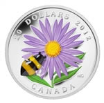 $20 2012 Fine Silver Coin - Aster with Bumblebee