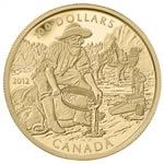 $100 2012 14k Gold Coin - 150th Anniversary of the Cariboo Gold Rush